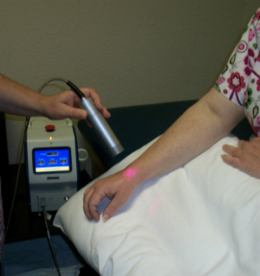 image of laser therapy being used for pain relief